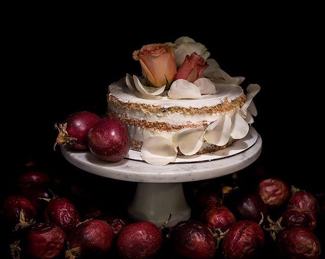Passion fruit cake. Emphasis on the passion fruit. #passionfruit #cake #beardedbakerco