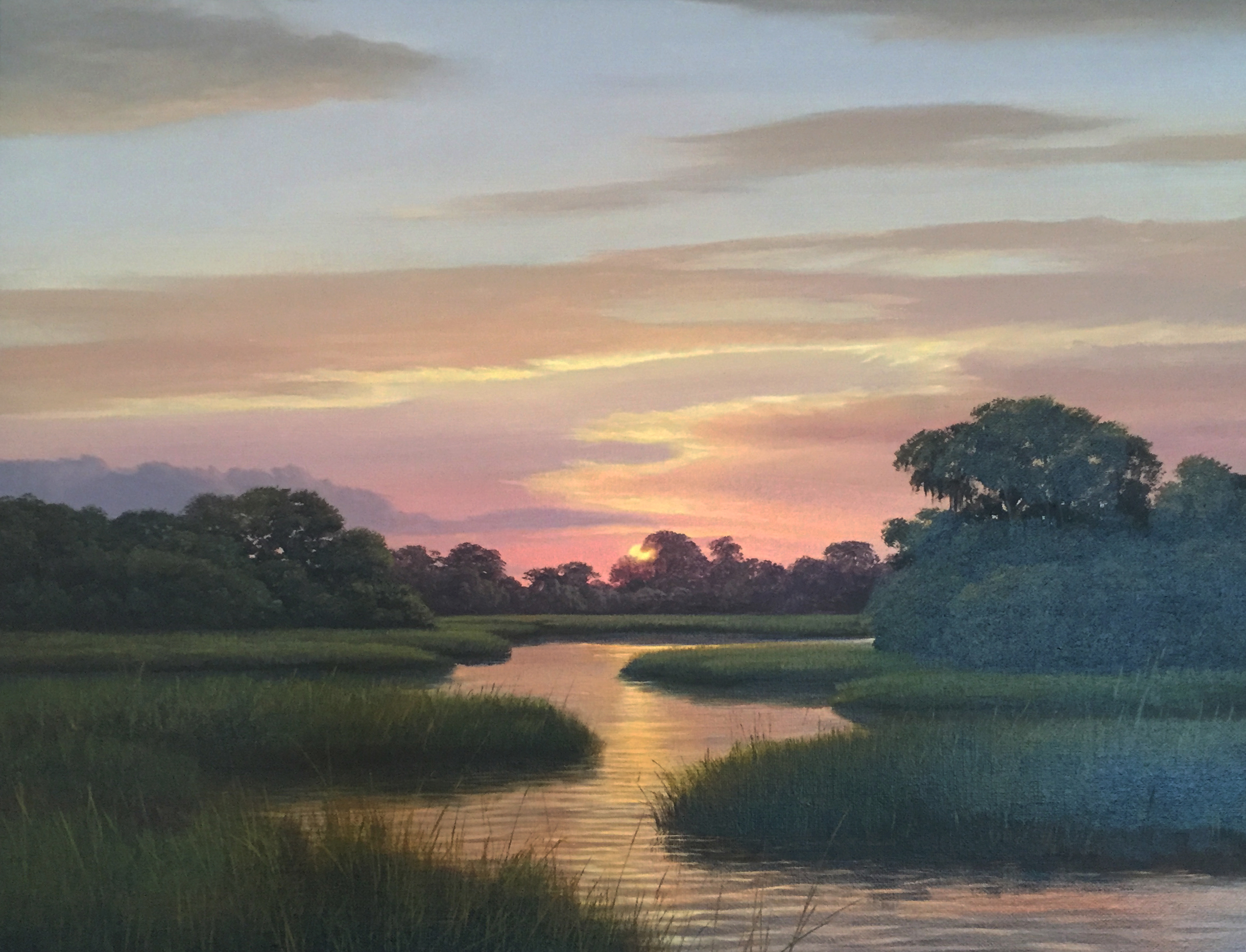 """Day's End"" Henry von Genk, lll, Oil on Canvas 2004"