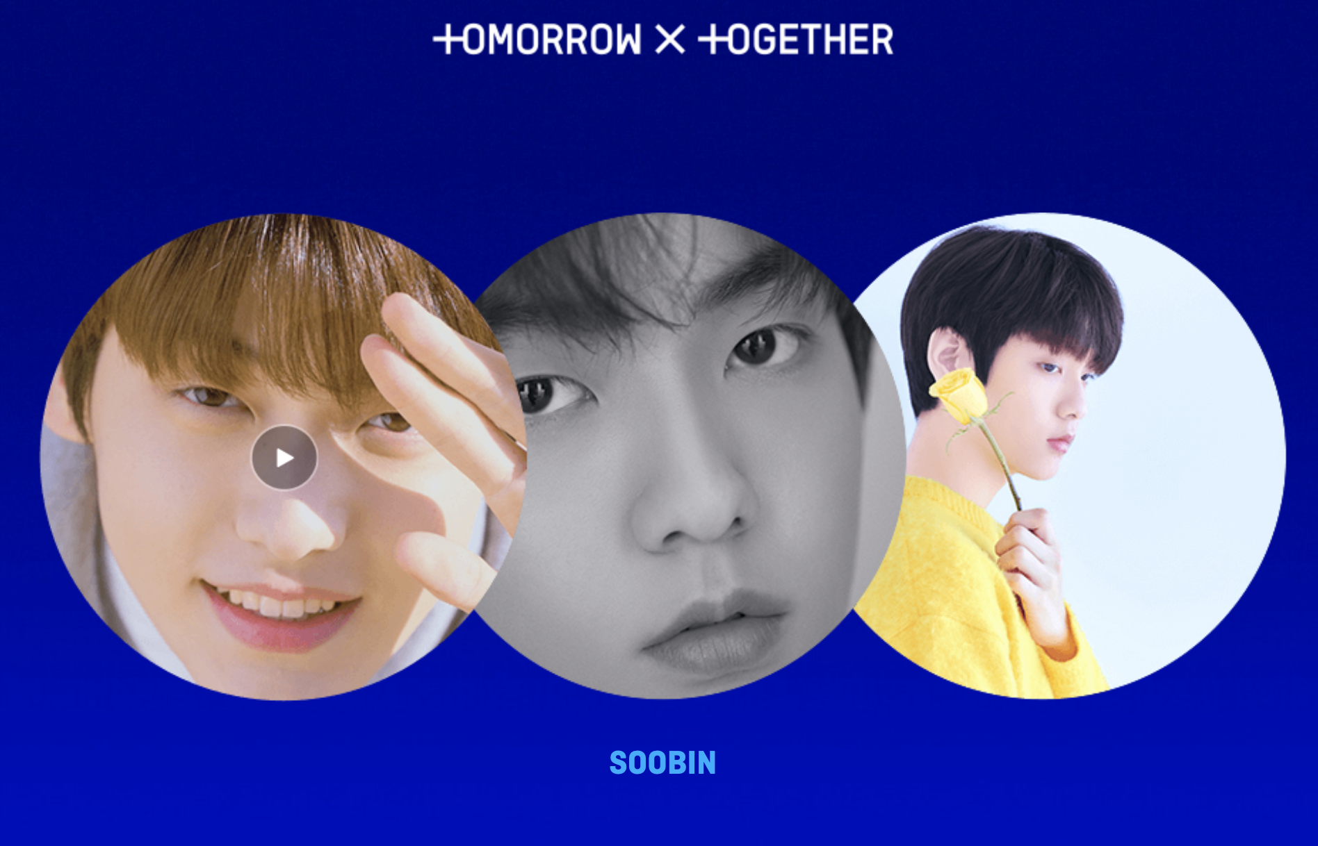TXT's second member revealed. Screengrab from  TXT microsite