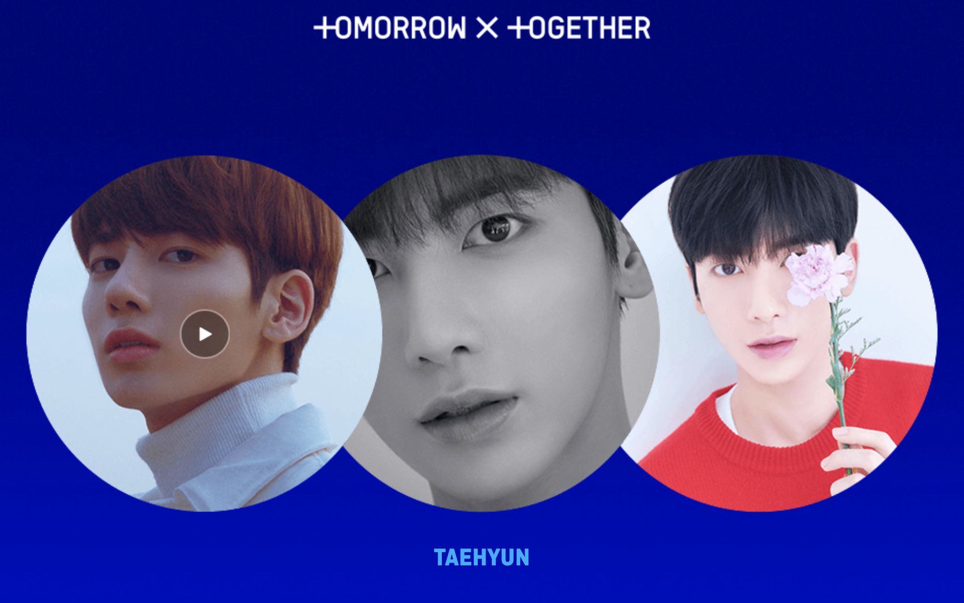 Meet TOMORROW X TOGETHER's fourth member. Screengrab from  TXT microsite