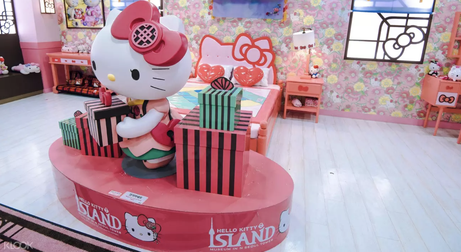 Hello Kitty Island museum at N Seoul Tower. Screengrab from  Klook