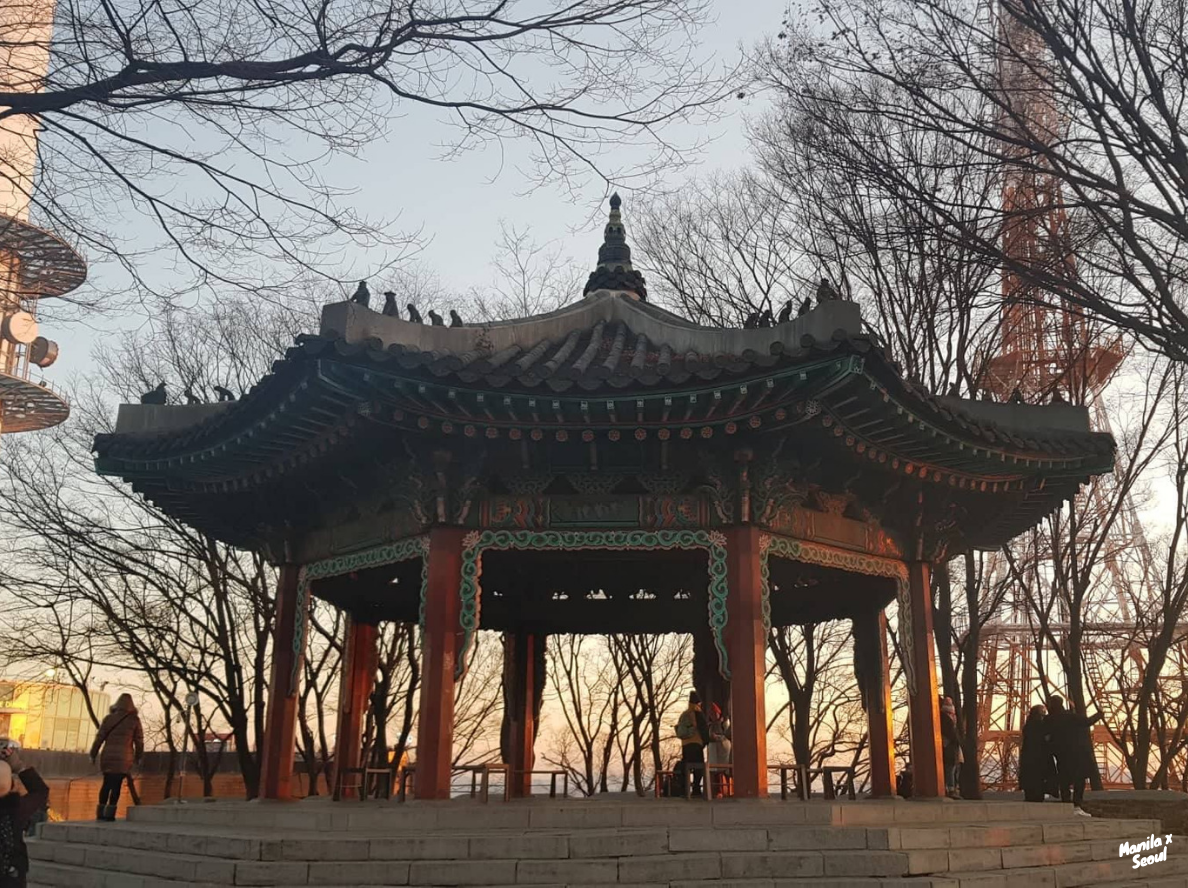 A nice pagoda at the foot of N Seoul Tower. Follow  @ManilaxSeoul  on Instagram for more inspiration!