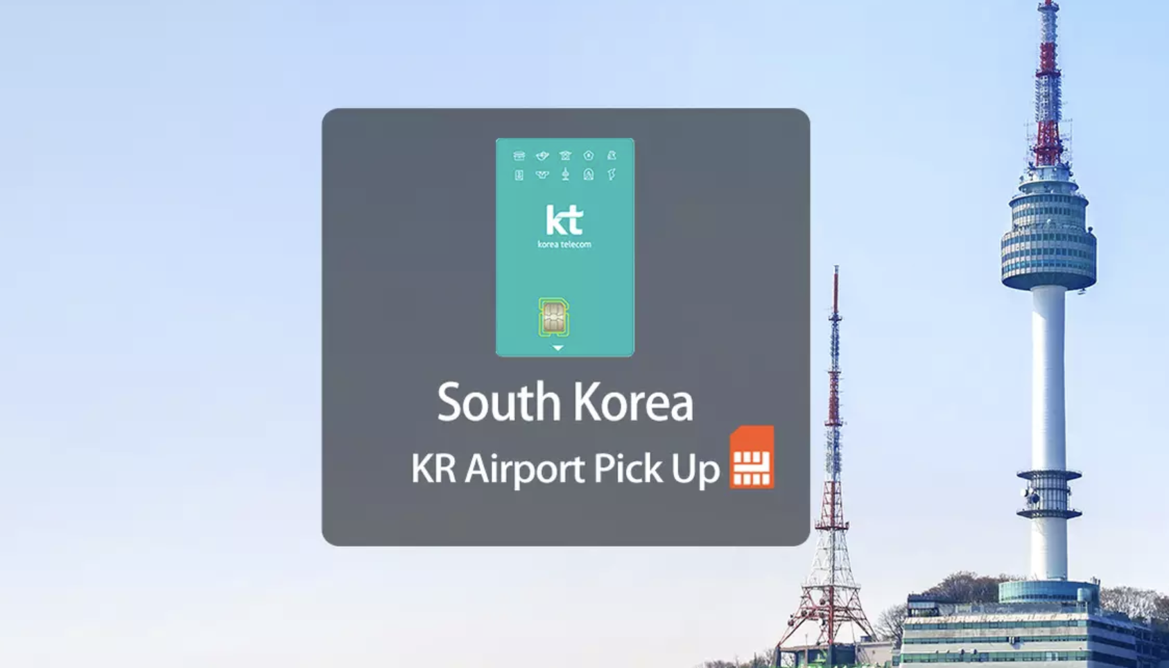 Korea Telecom or KT Olleh Prepaid SIM. Screengrab from  Klook