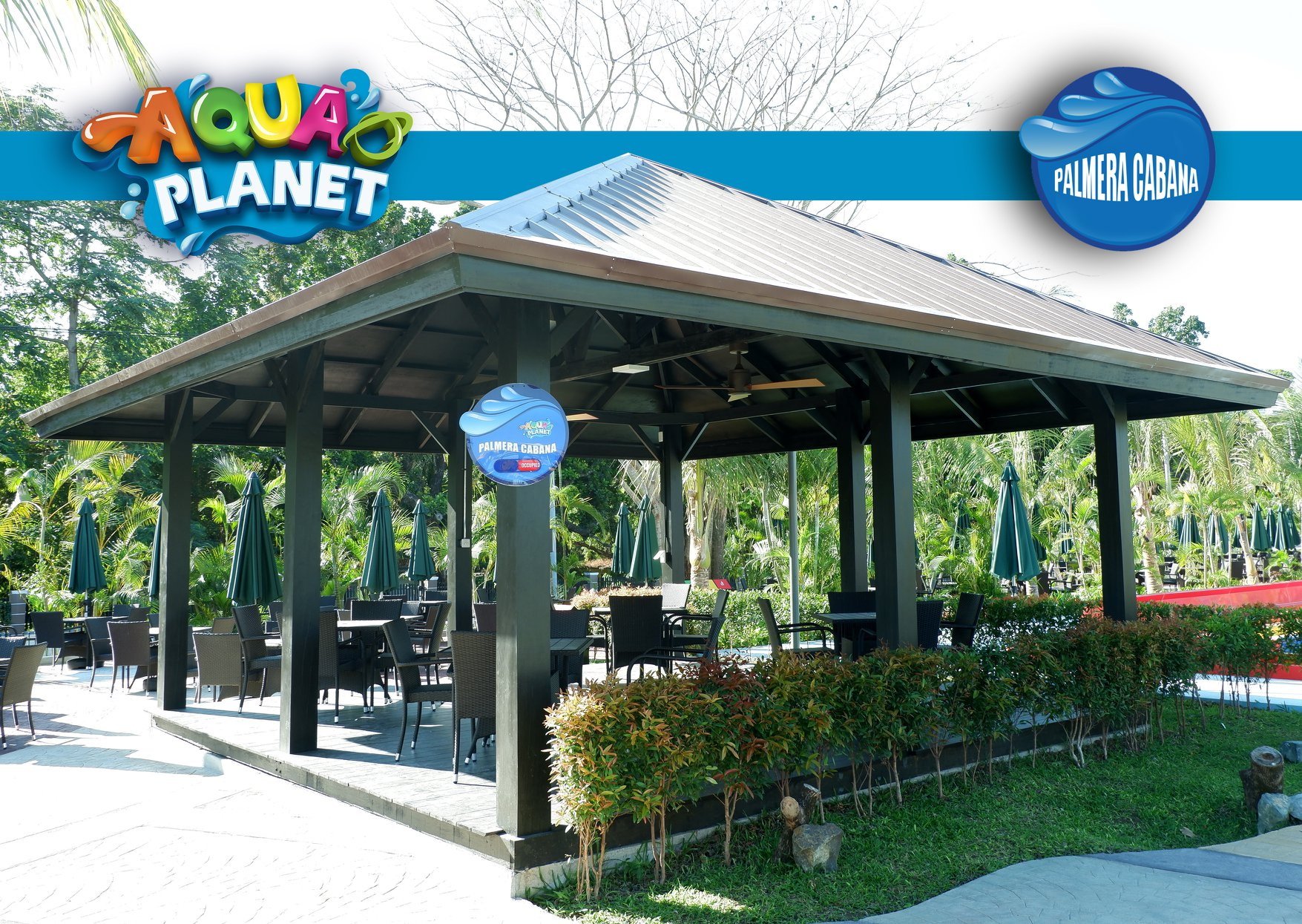 Palmera Cabana at Aqua Planet Clark, Pampanga. Image credit:  Aqua Planet Facebook Page