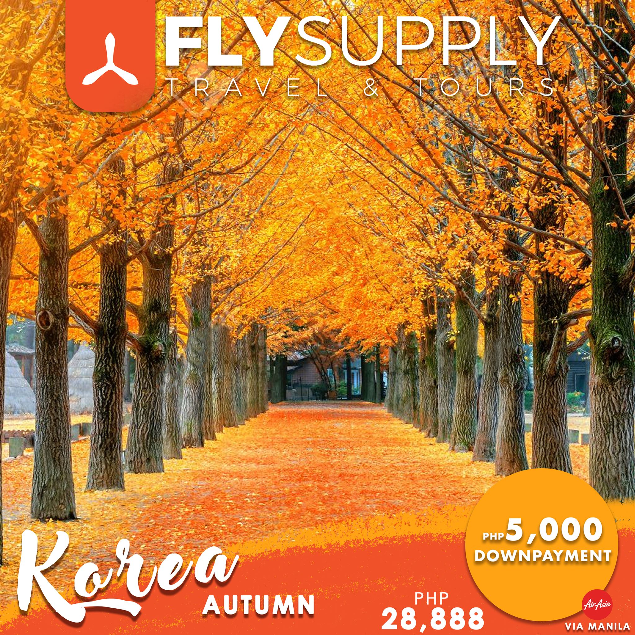 Korea tour package for fall or autumn 2019. Image credit:  Fly Supply Travel