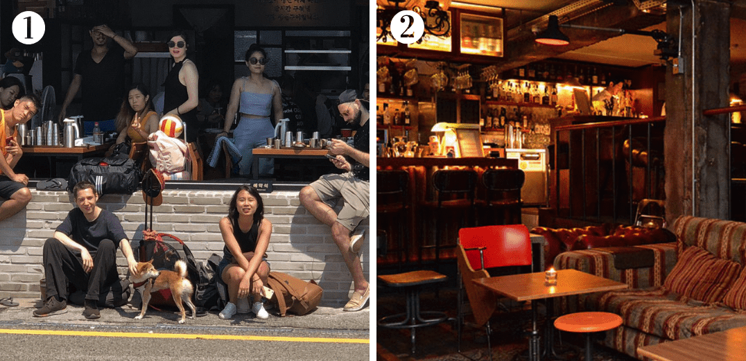 Southside Parlor and a nice vintage hangout place in Itaewon. Image credit: (1)  Southside Parlor ; (2)  232