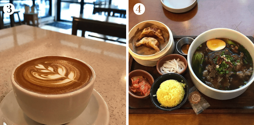 Seoul travel guide to the excellent grub in Gangnam. Image credit: (3)  Cafe KULM ; (4)  Smile Noodles