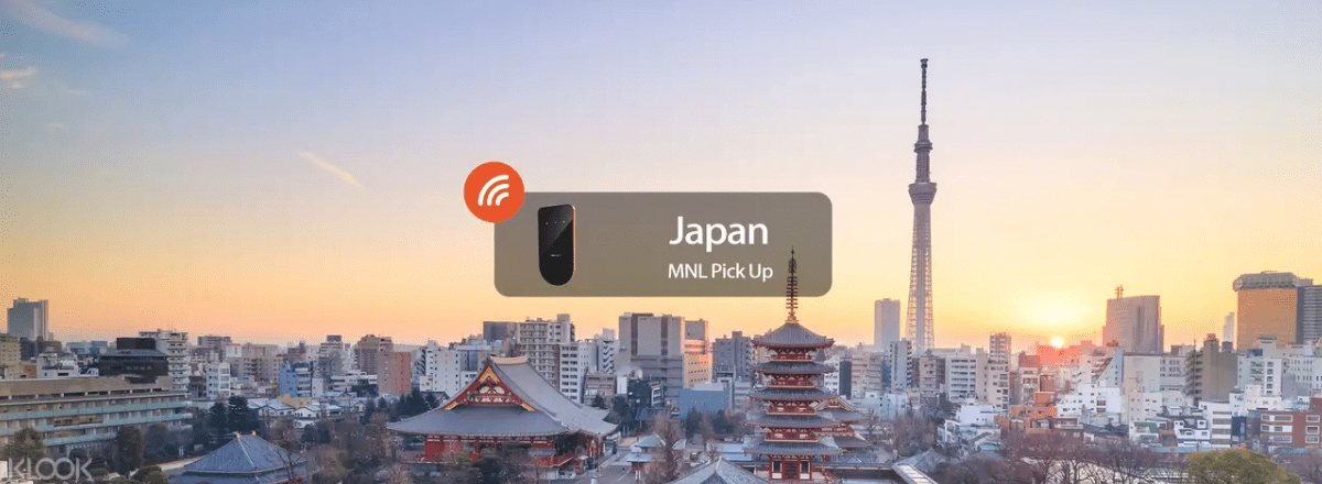 Pocket wifi for Japan that can be delivered to your preferred address in Manila and other parts in the Philippines. Screengrab from  Klook