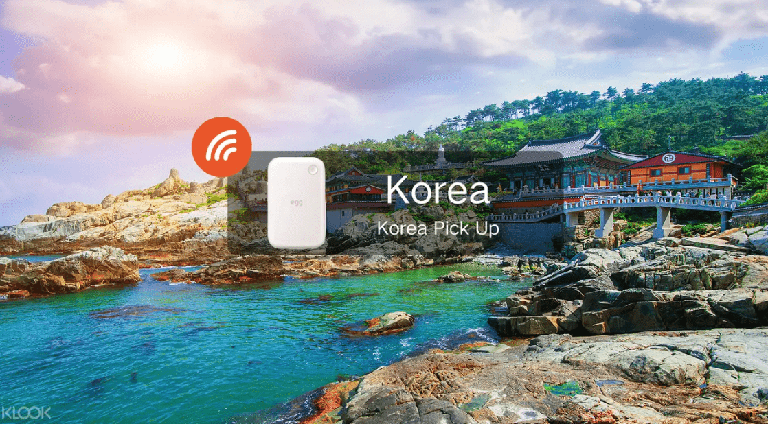 Get your South Korea pocket Wifi as soon as you land in Incheon Airport! Screengrab from  Klook
