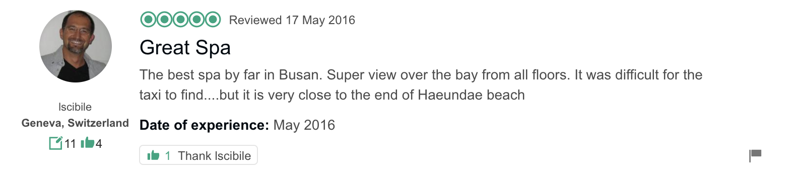 'The best spa by far in Busan. Super view over the bay from all floors. It was difficult for the taxi to find....but it is very close to the end of Haeundae beach.' - Hill Spa Busan Review from TripAdvisor