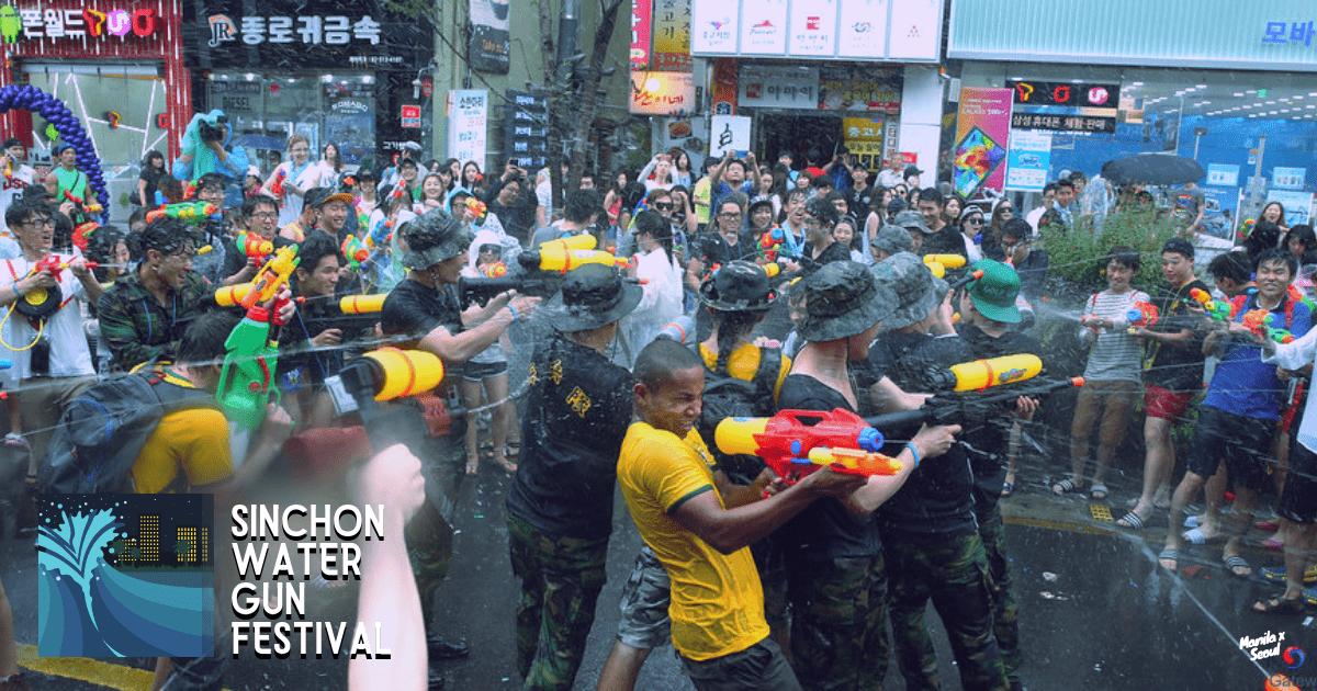 Shot from previous Sinchon Water Gun Festival. Image credit:  Republic of Korea