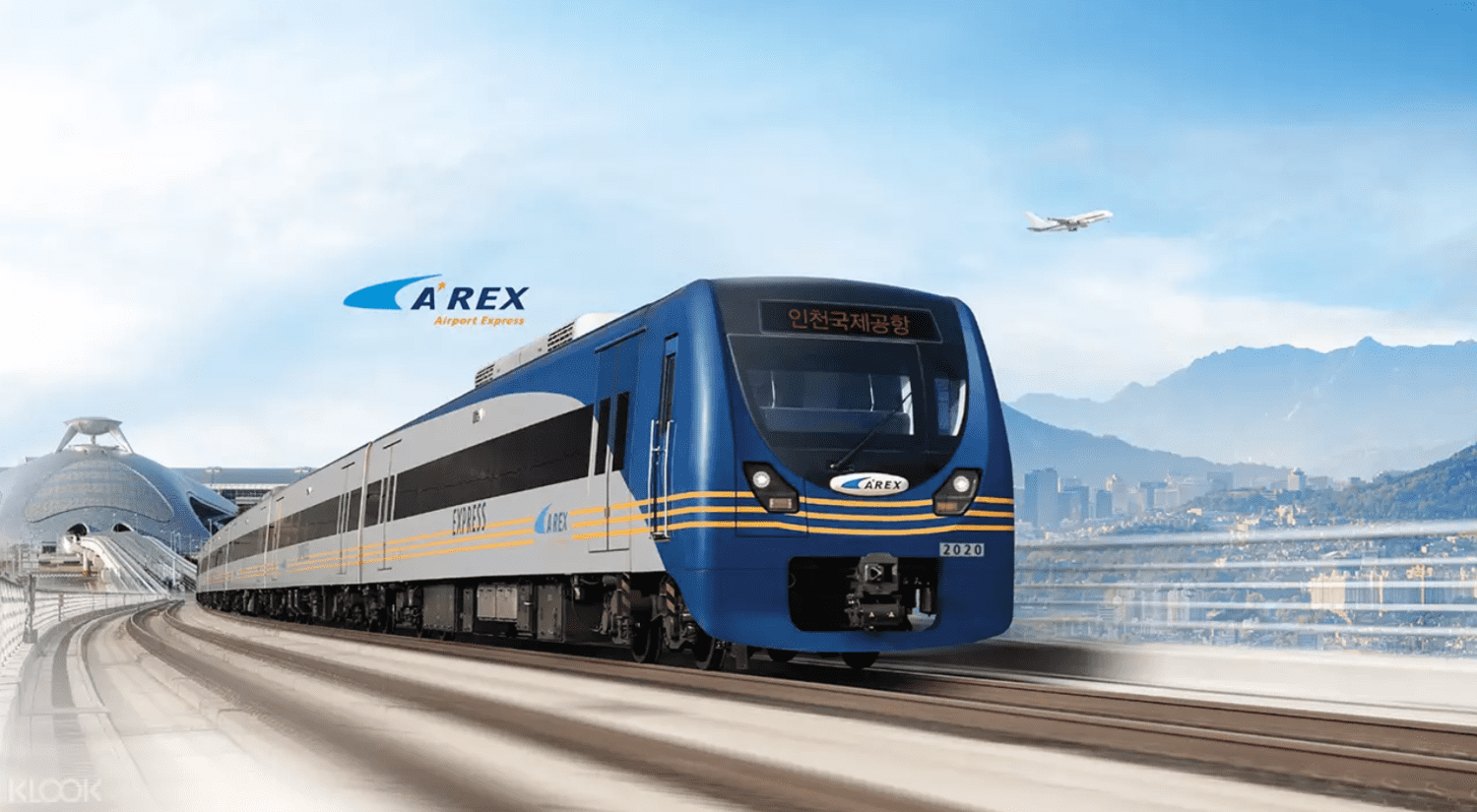 AREX Express Train for Incheon Airport to Seoul. Screengrab from  Klook