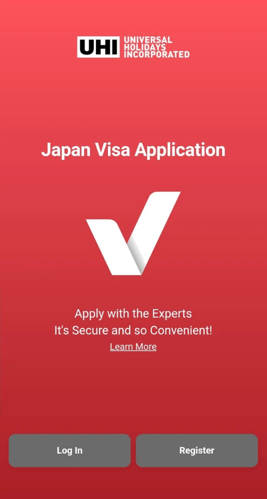Screenshot of the Japan visa application app (for Filipinos), which is available on  Google Play .