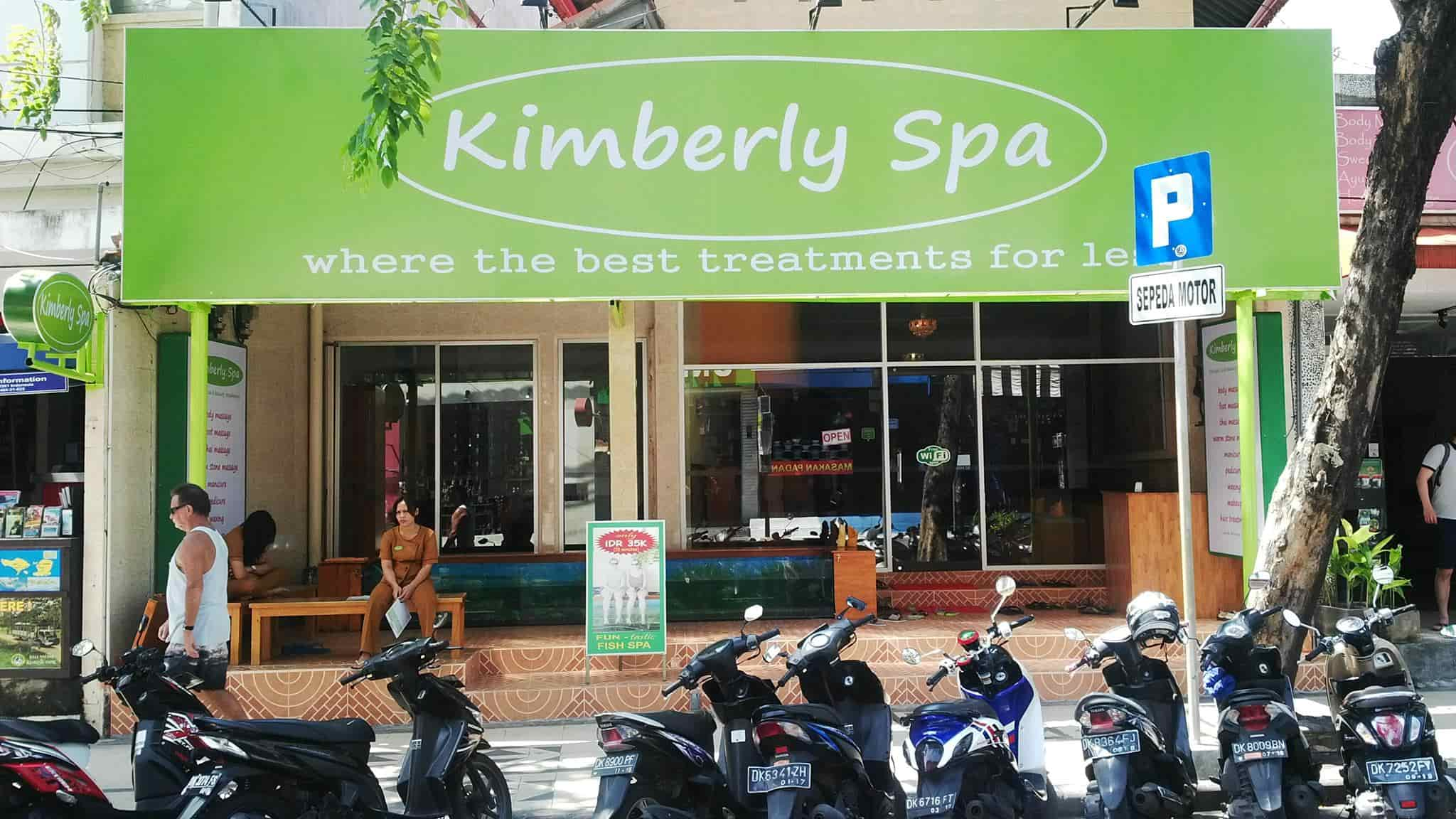 Typical massage parlor in Bali that can be spotted in commercial areas. Image credit:  Kimberly Spa Bali Facebook page