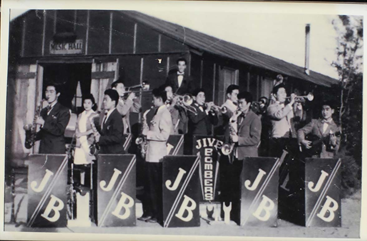 Copy of Sumiko's band playing in Manzanar Reloation Center.