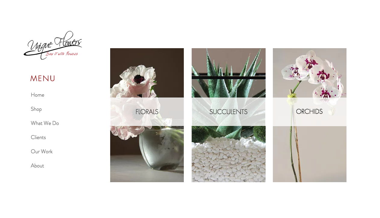 www.uniqueflowersnj.com - shop page
