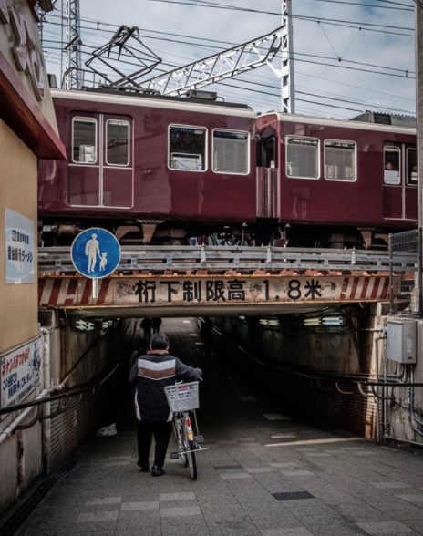 Hankyu Railway train in Osaka