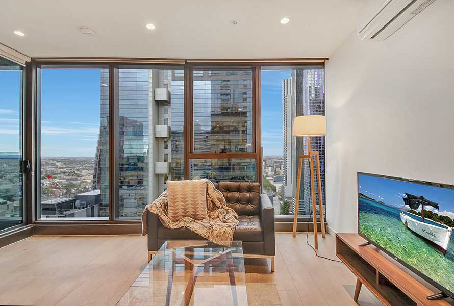 A Stylish 2BR CBD Suite Next to Melbourne Central -