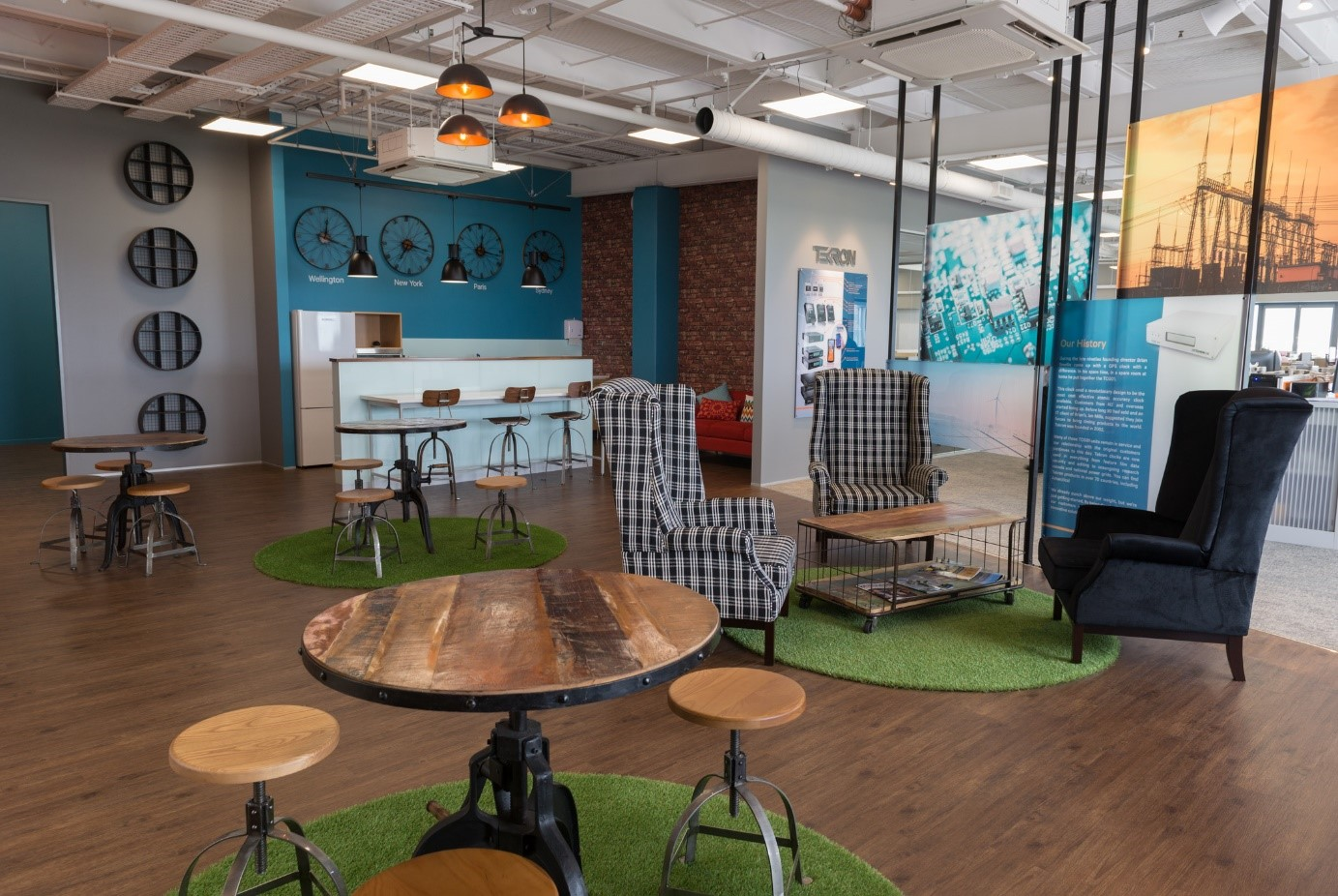 Tekron International's office showing how spaces and working areas encourage diversity