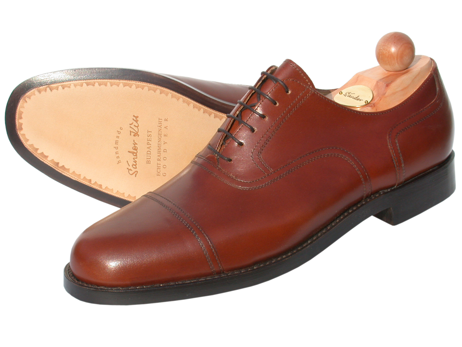 Captoe Oxford Boxcalf sequoia
