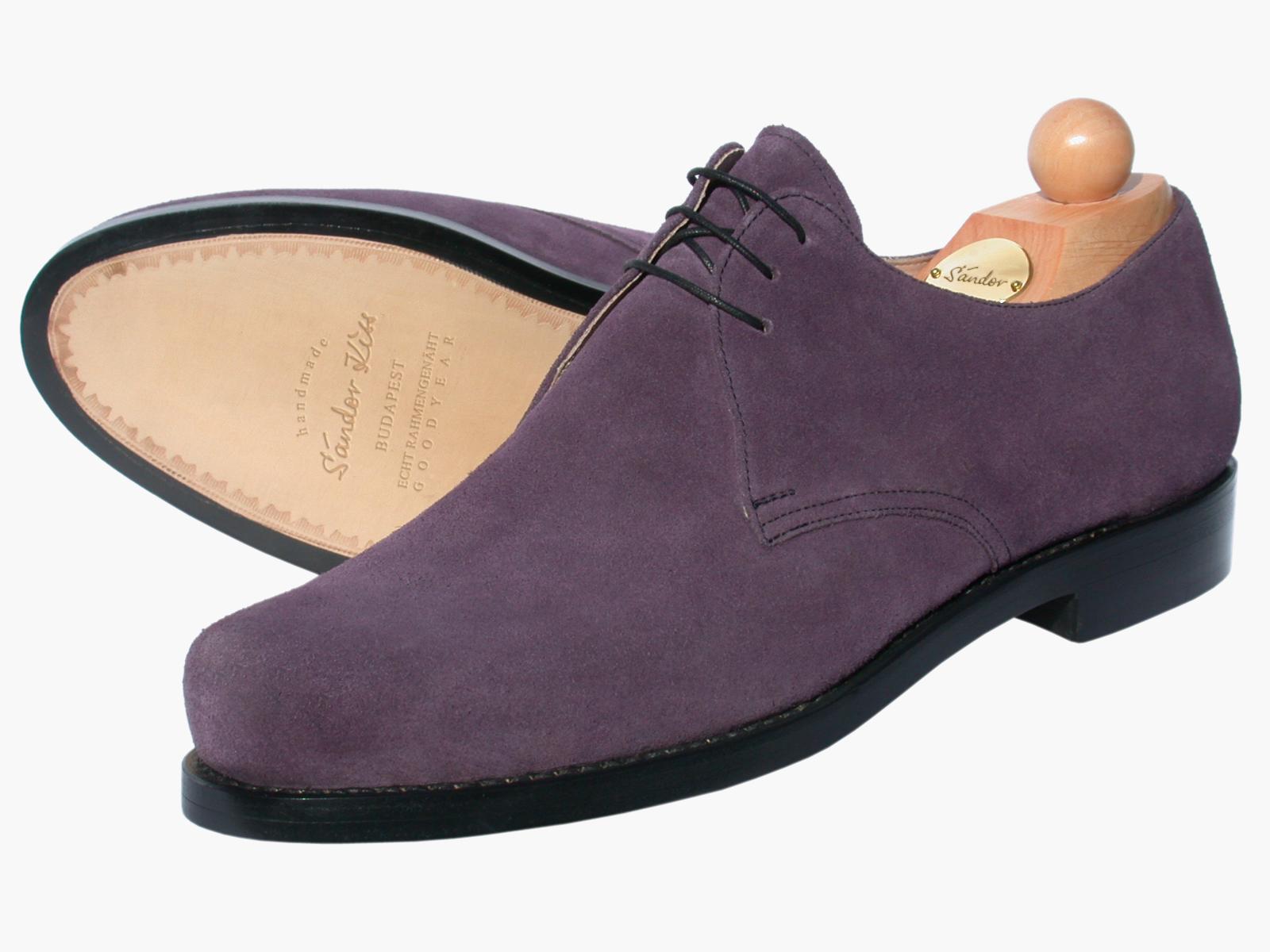 Plain Kalbsvelours purple