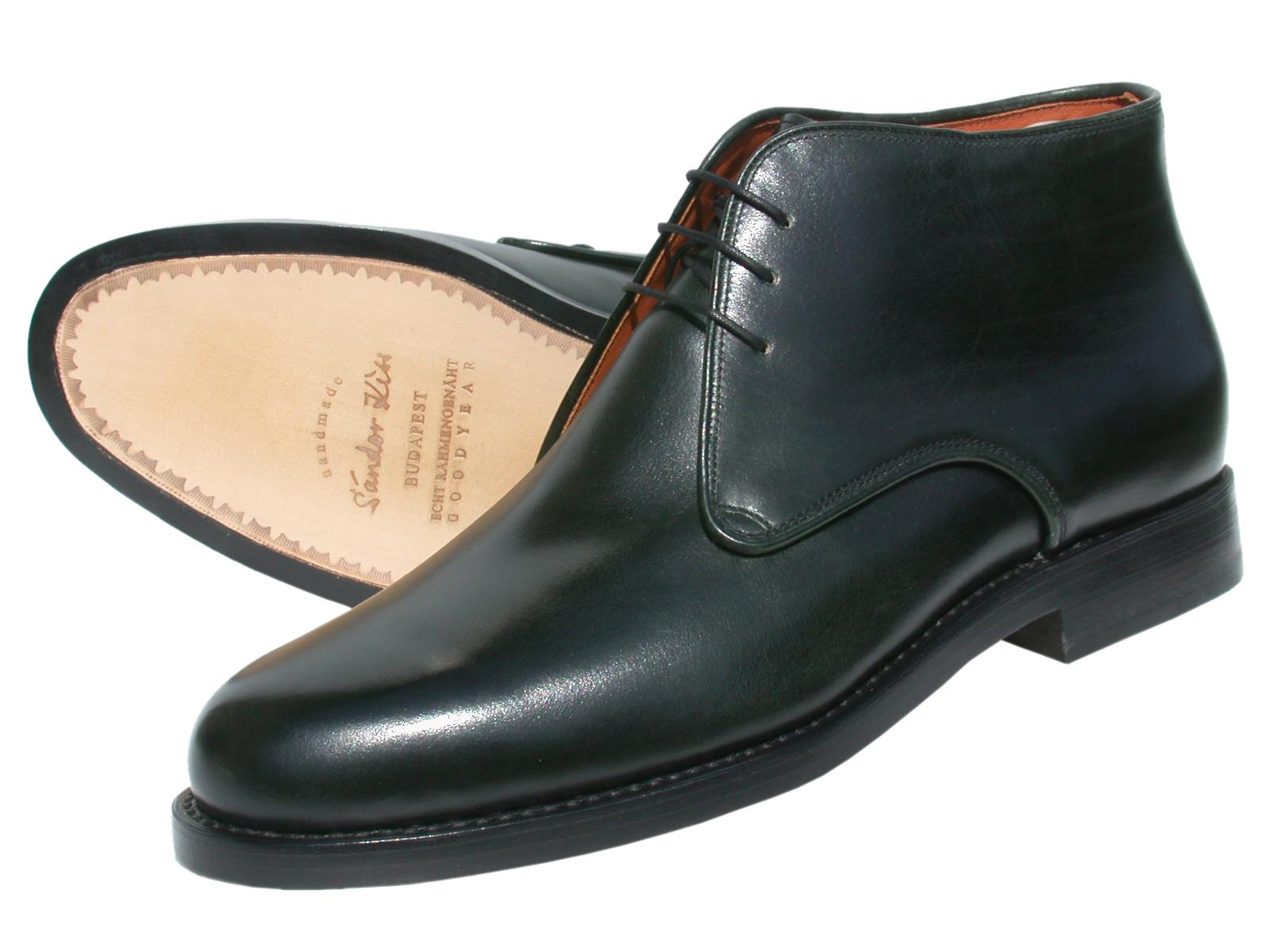 Boot Kalbsvelours dunkelgün
