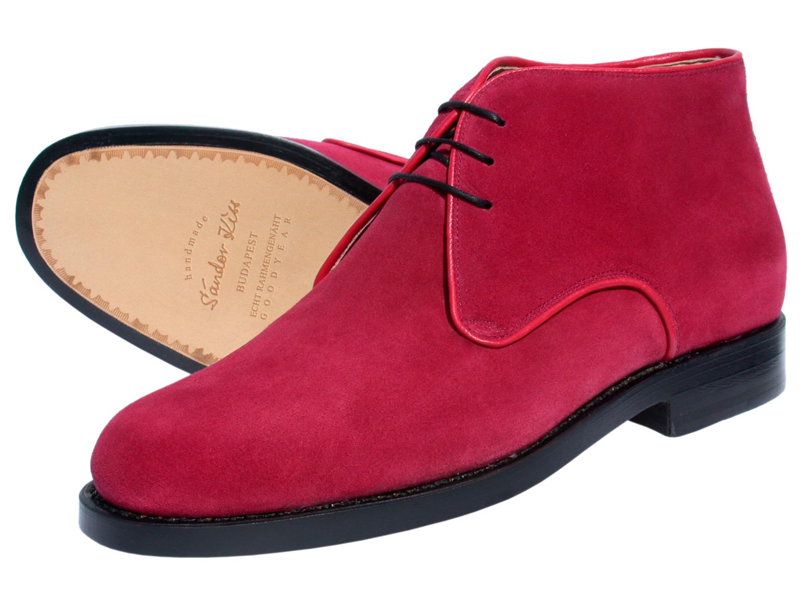 Boot Kalbsvelours rot
