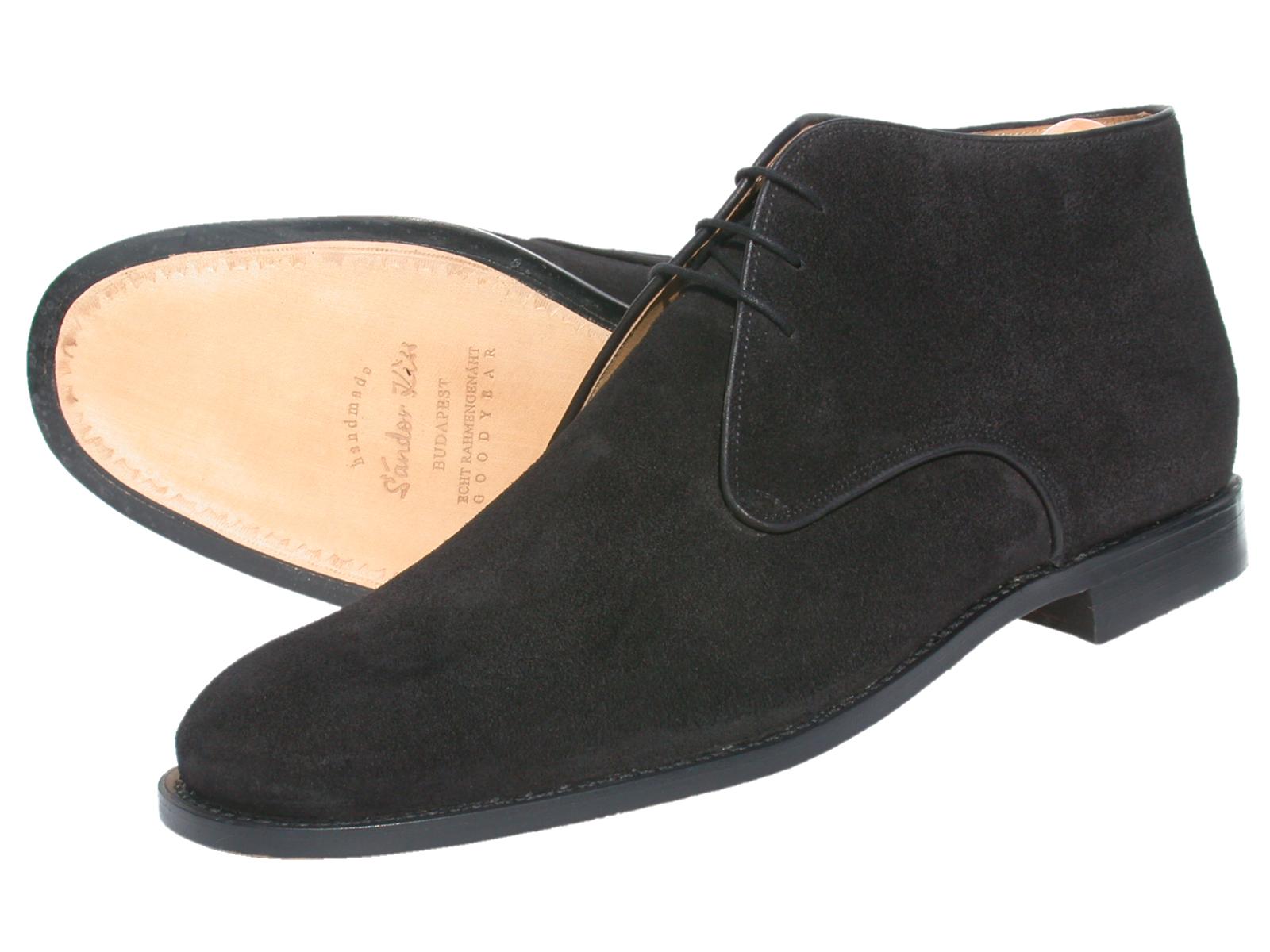 Boot Kalbsvelours schwarz