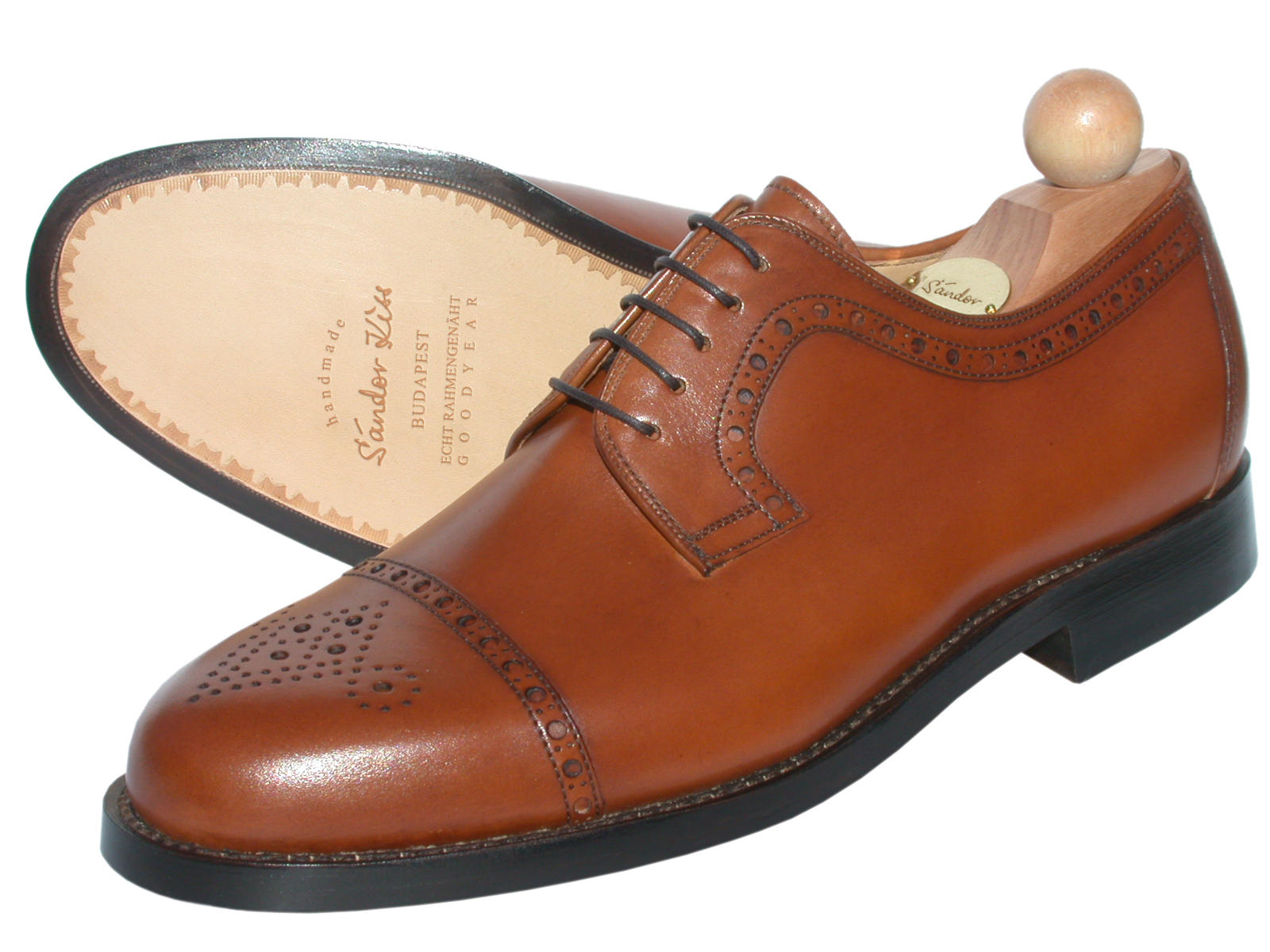 Semi-Brogue Boxcalf cognac