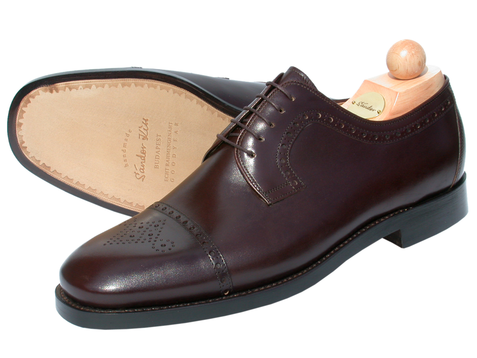 Semi-Brogue Boxcalf dunkelbraun