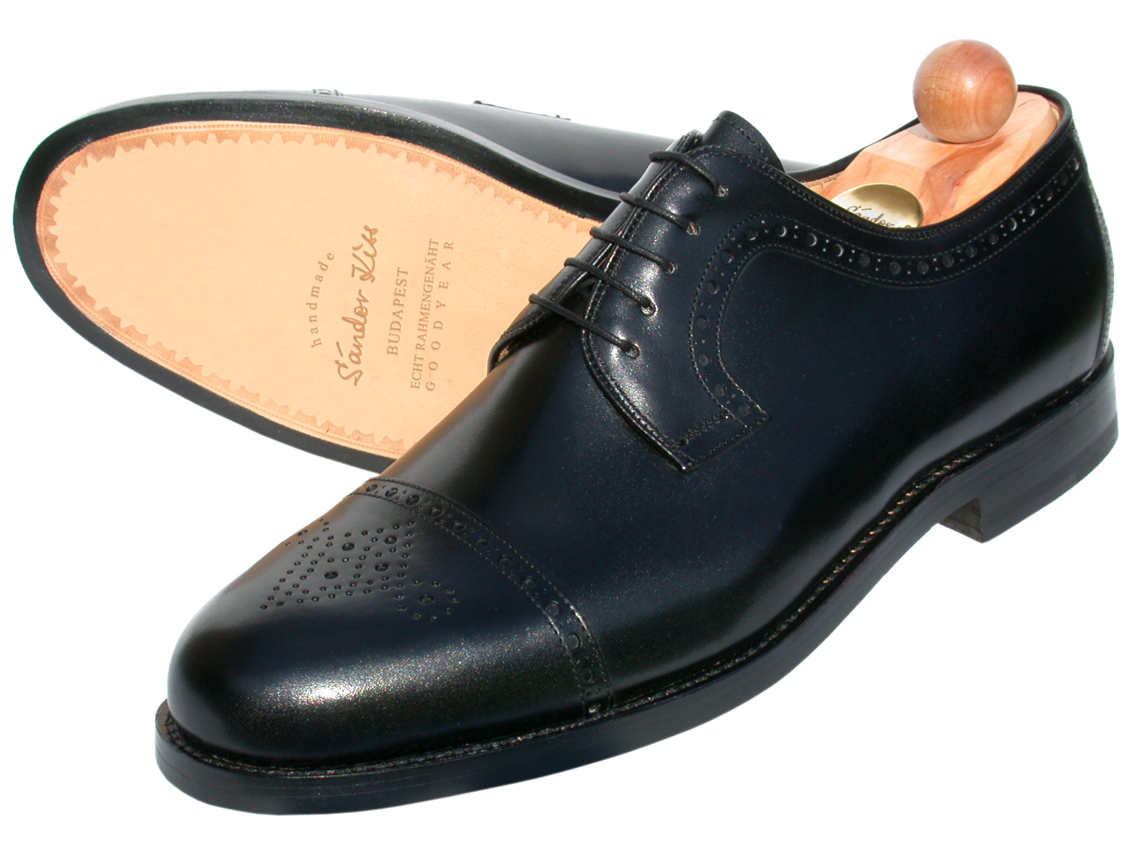 Semi-Brogue Boxcalf schwarz
