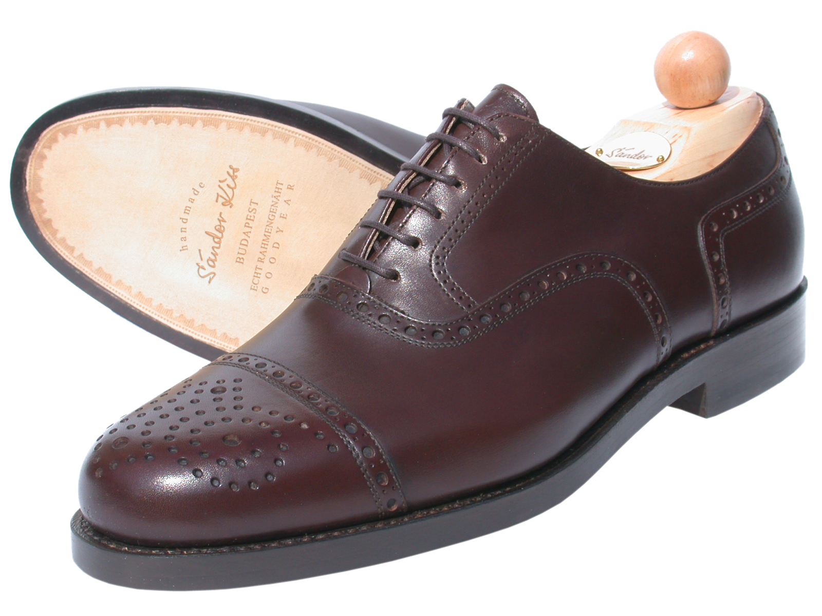 Semi-Brogue Oxford Boxcalf cola