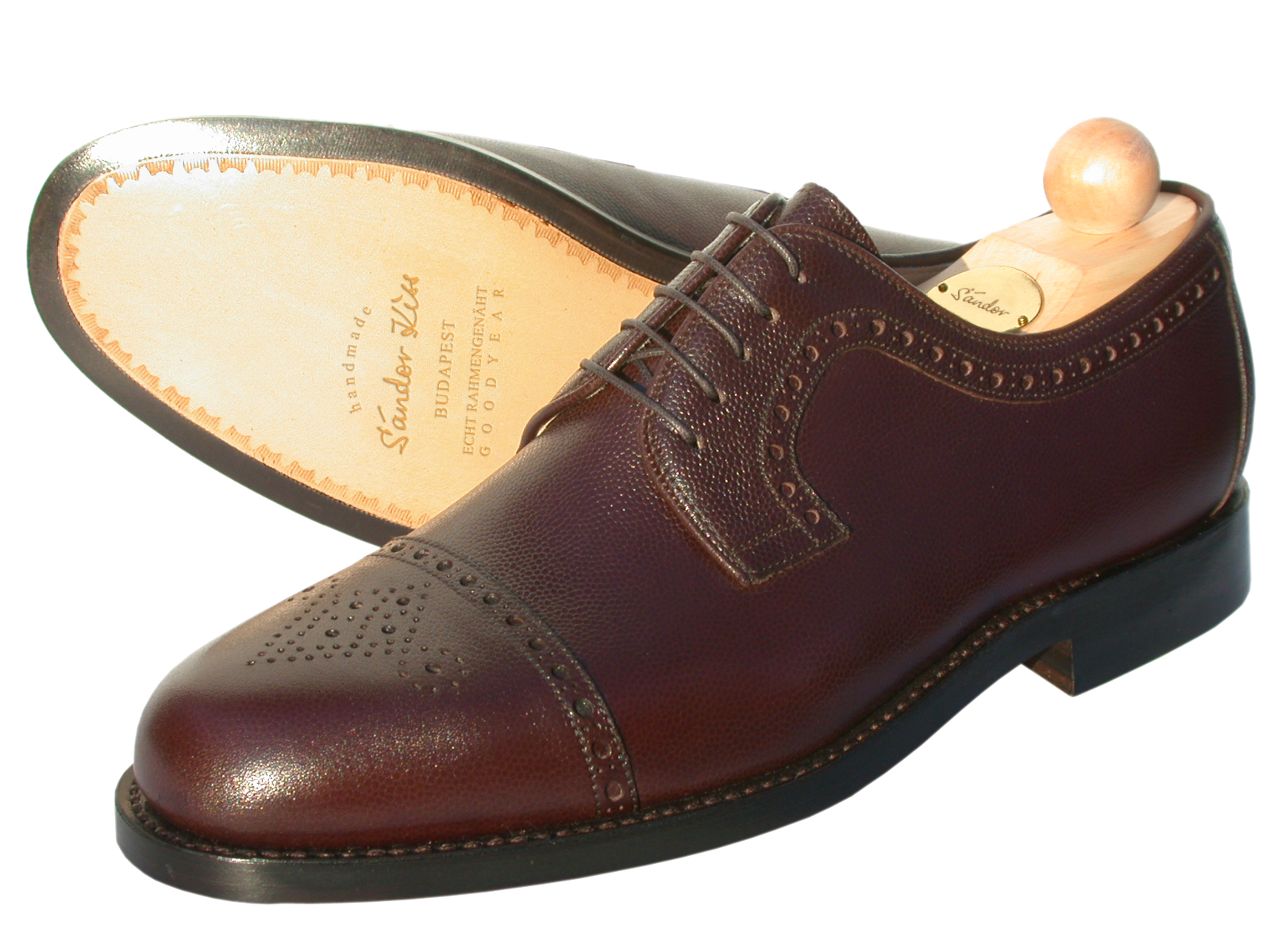 Semi-Brogue Scotch Grain schoko