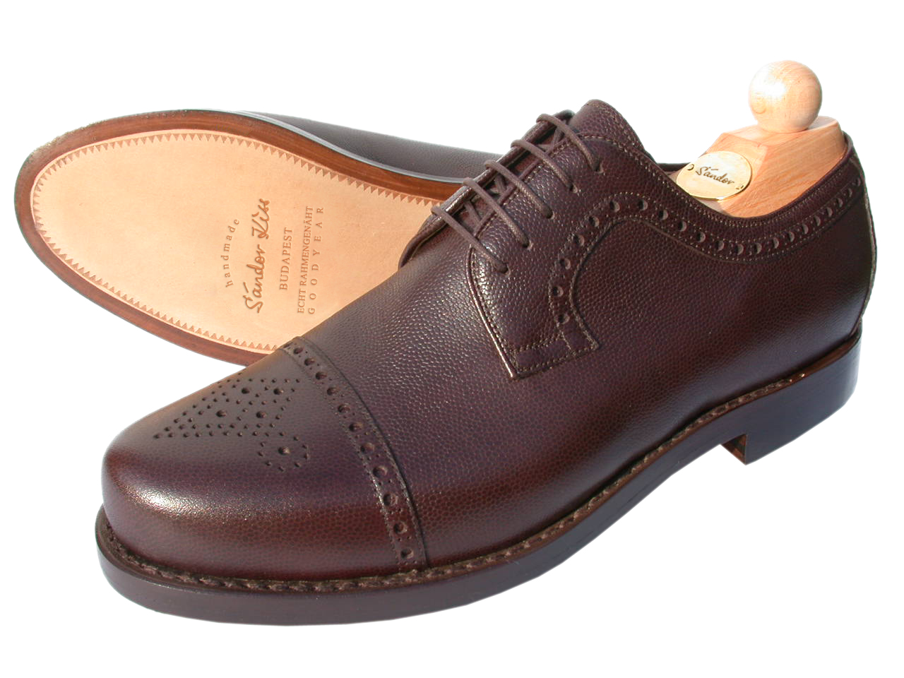 Semi-Brogue Scotch Grain schoko, sportlich