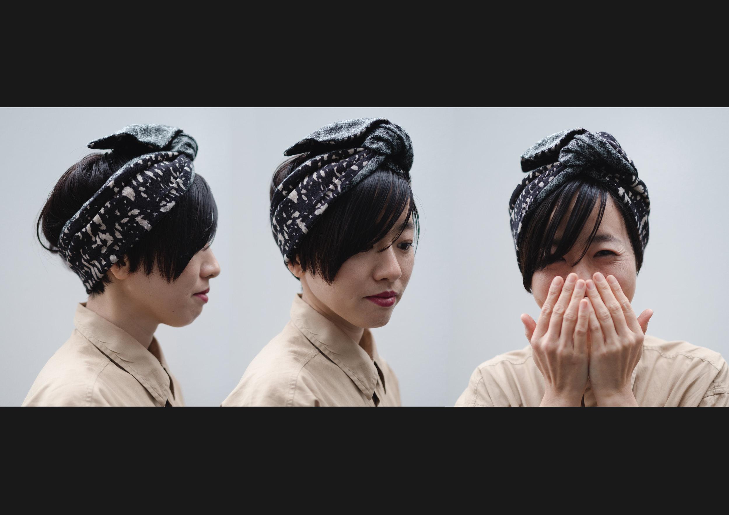 ショートヘアの方は、こんな風に前髪や手前の髪の毛を少し出しても可愛いです。