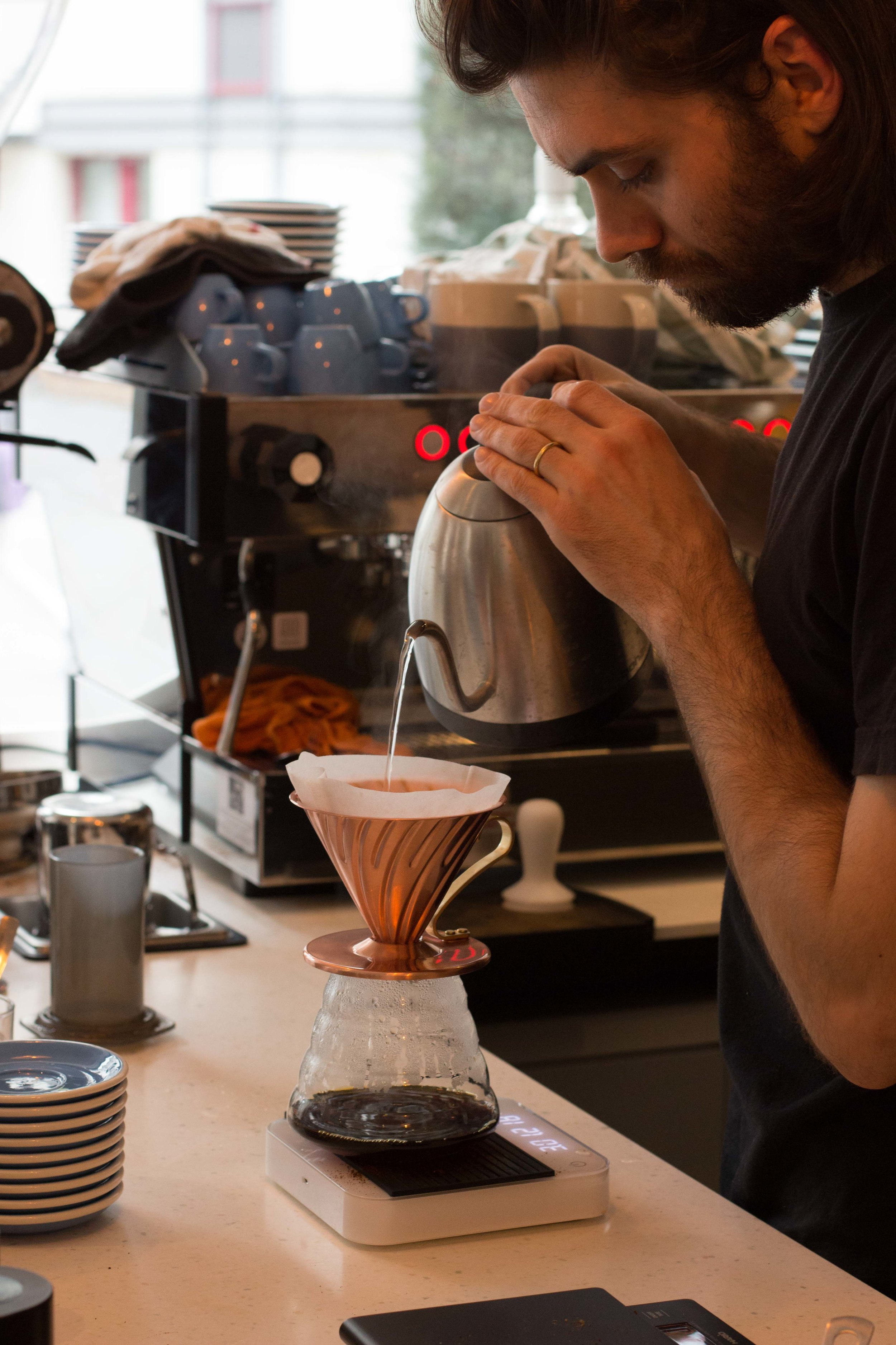 Nous vous proposons ces cafés en Aeropress et en V60.