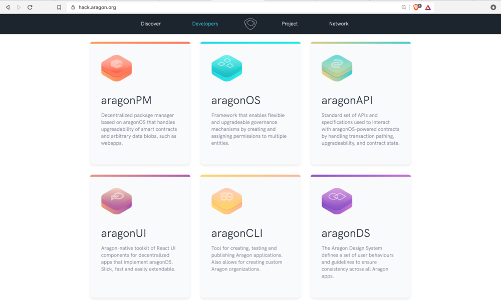 Aragon's suite of    developer tools   .