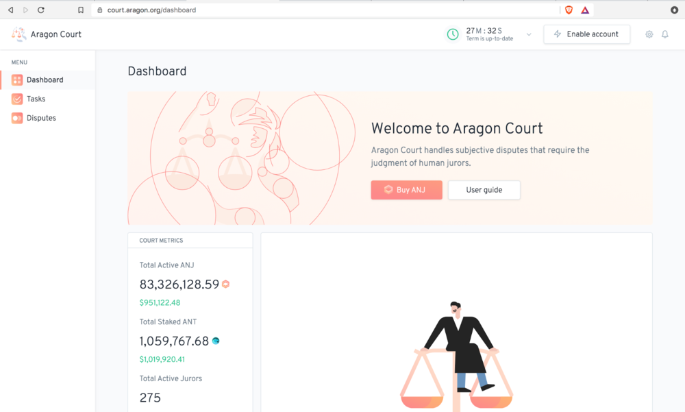 The    Aragon Court client   .