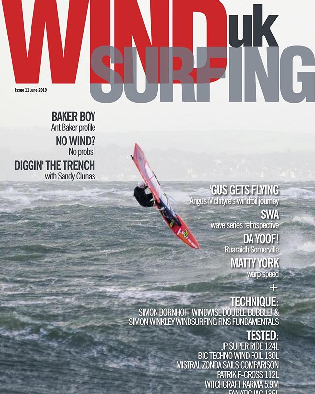 First front cover for WindsurfIngUK magazine of one of my storm chasing pix #hayling #haylingisland #jamesjaggerphotography #windsurf #windsurfing #stormchasers