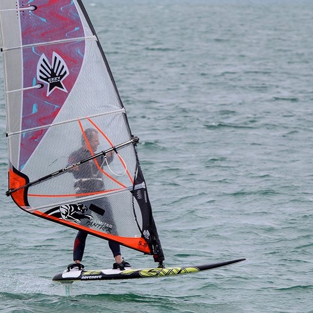 New challenge.....many thanks to Tez Plavenieks for making it happen....and to Nick Kingston for the pix #windfoiling #windfoil #haylingisland #haylingisland