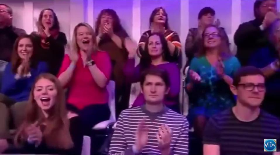 My 2016 surprise appearance in the studio audience of Loose Women USA (bottom right) still ranks only just below football, rain, and Bake Off accidents, as a talking point for the British public.   I've since bought new glasses and moved on.