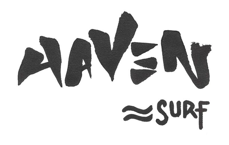 haven surf lettering