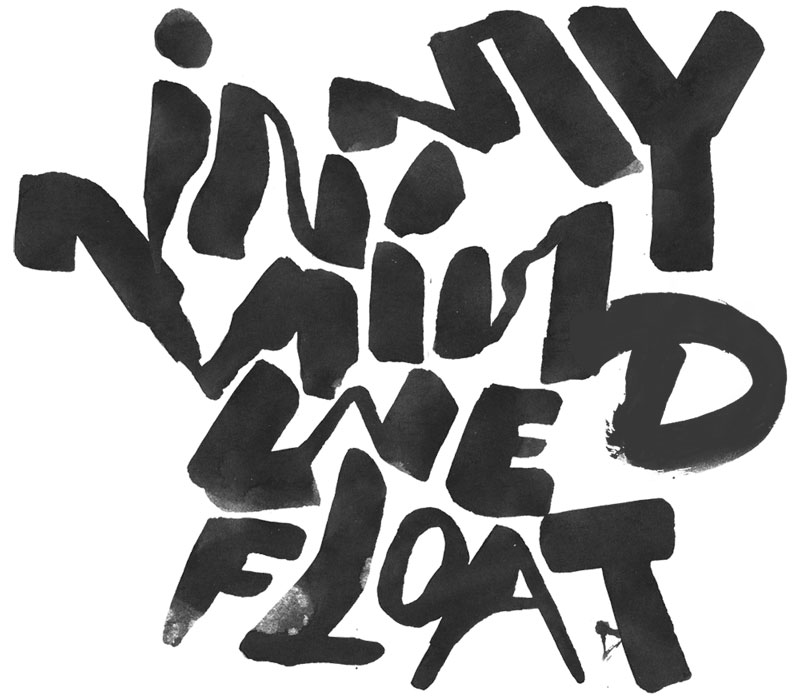 in my mind we float lettering