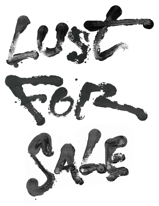 lust for sale lettering