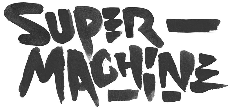 supermachine lettering