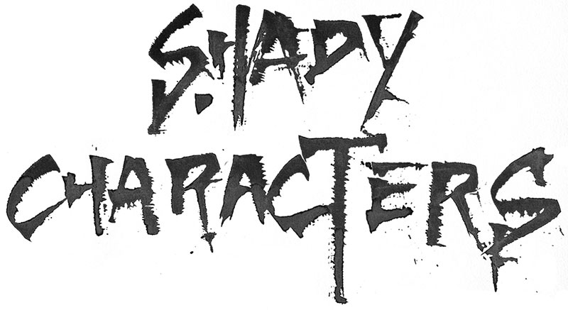 shady characters lettering