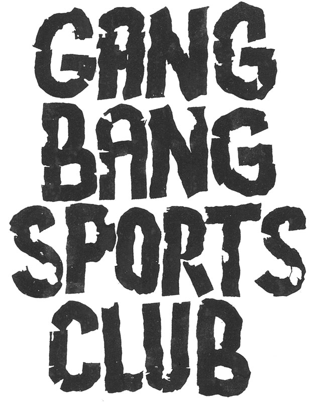 gang bang sports club lettering