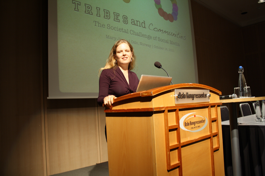 Preparing for keynote for an immigrant rights group (Oslo, 2011)