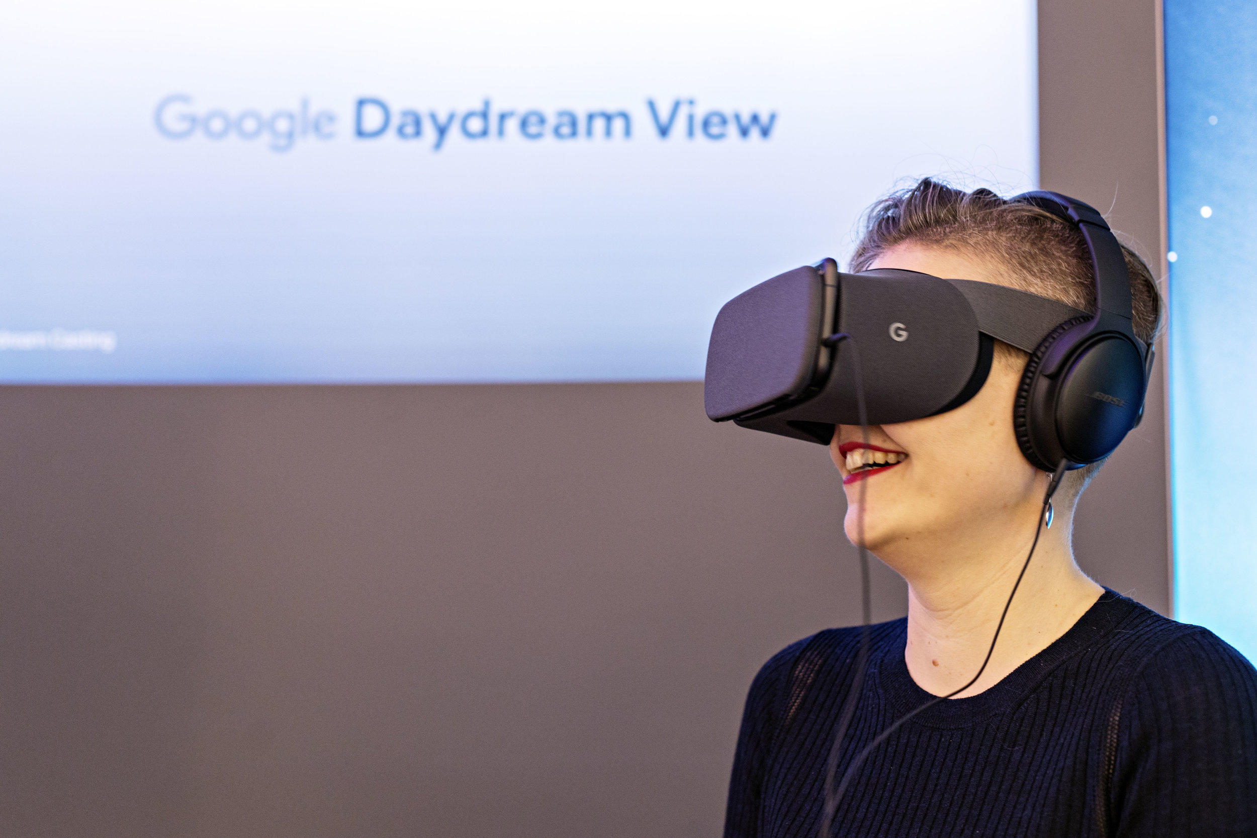 At Google for the launch of VR Action Lab's virtual reality anti-bullying experience (New York, 2017)
