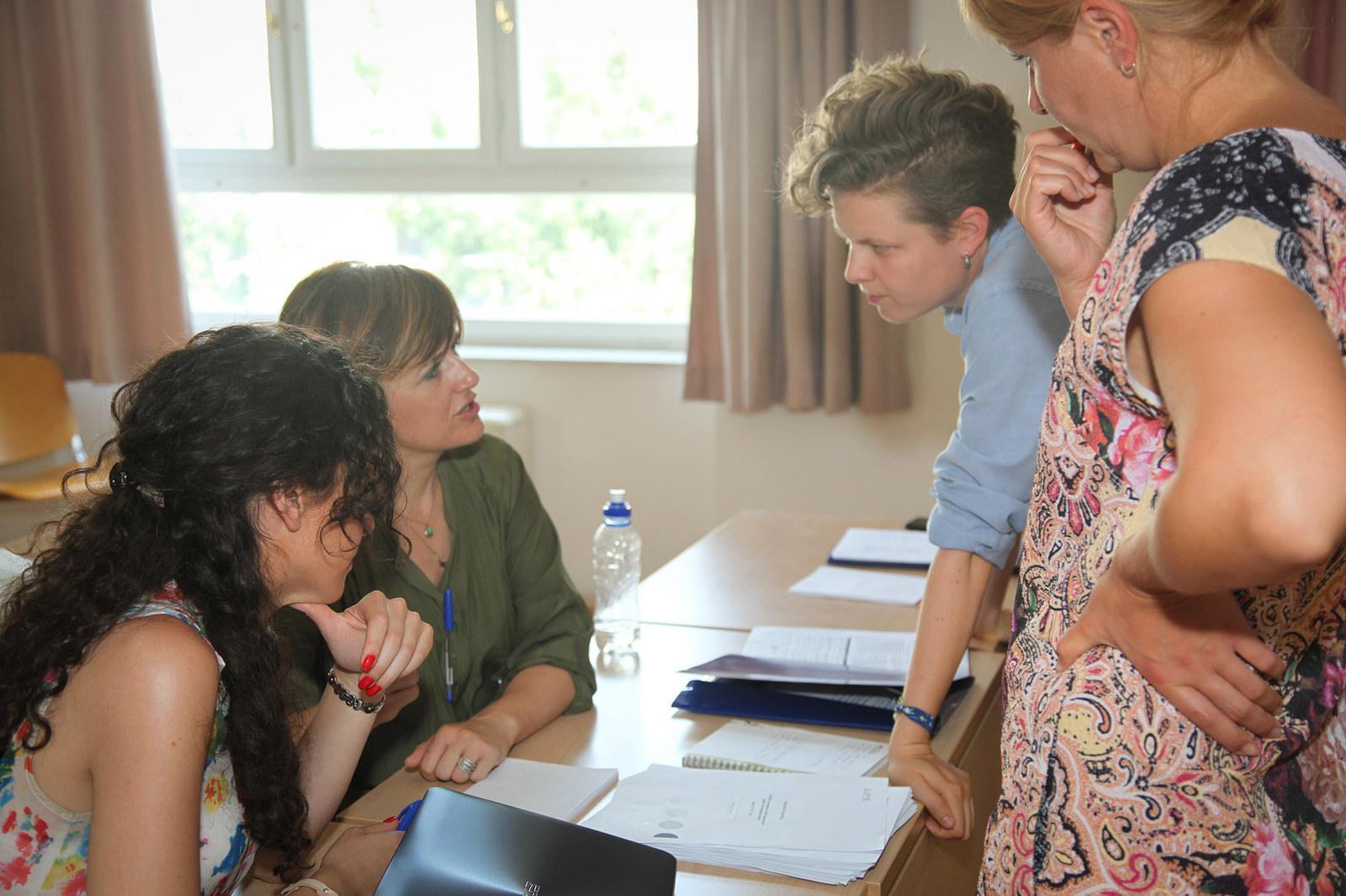 Leading a collaborative website design session (Zagreb, 2015)